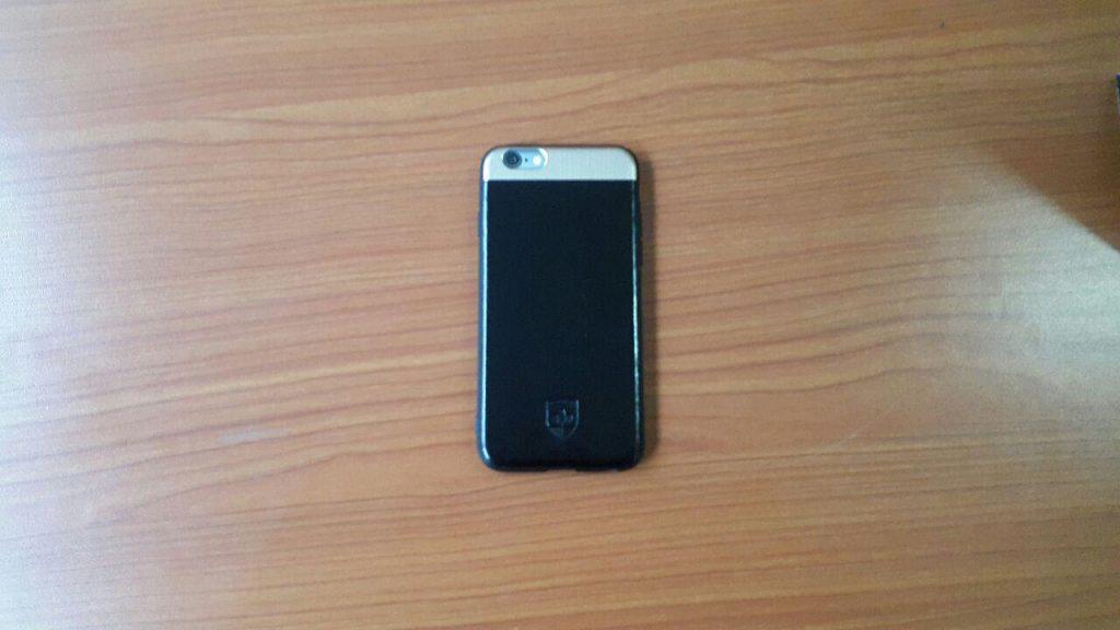 Back of Afia Kwakyewaa Owusu-Nyantakyi's iPhone 5 device.