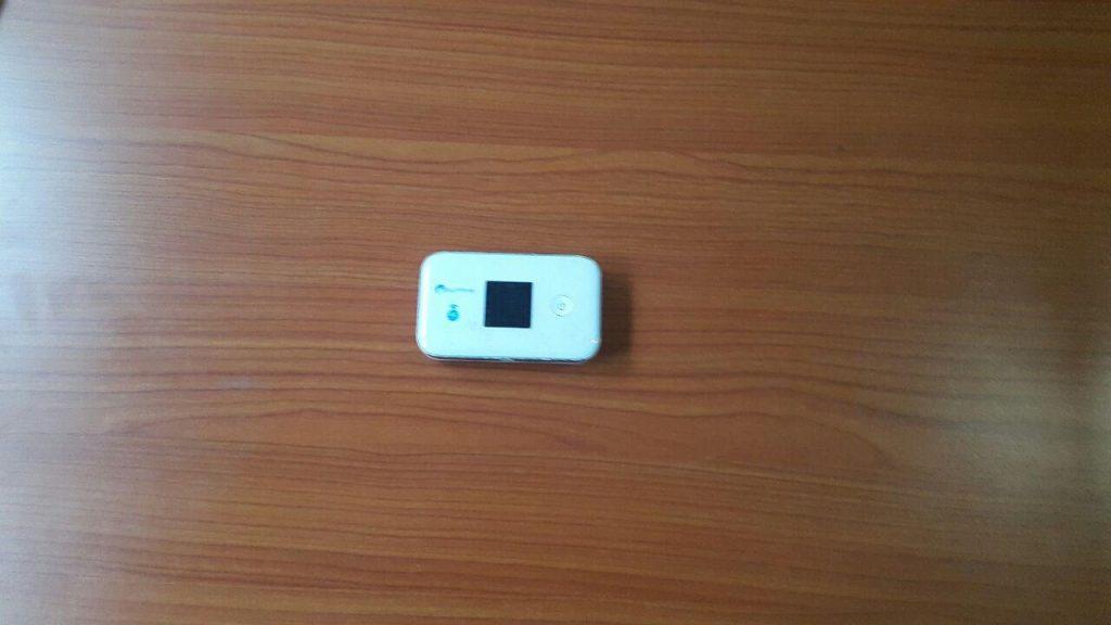 White surfline modem used by Afia Kwakyewaa Owusu-Nyantakyi