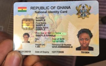 The GhanaCard Is Official; Issuances Will Start In November