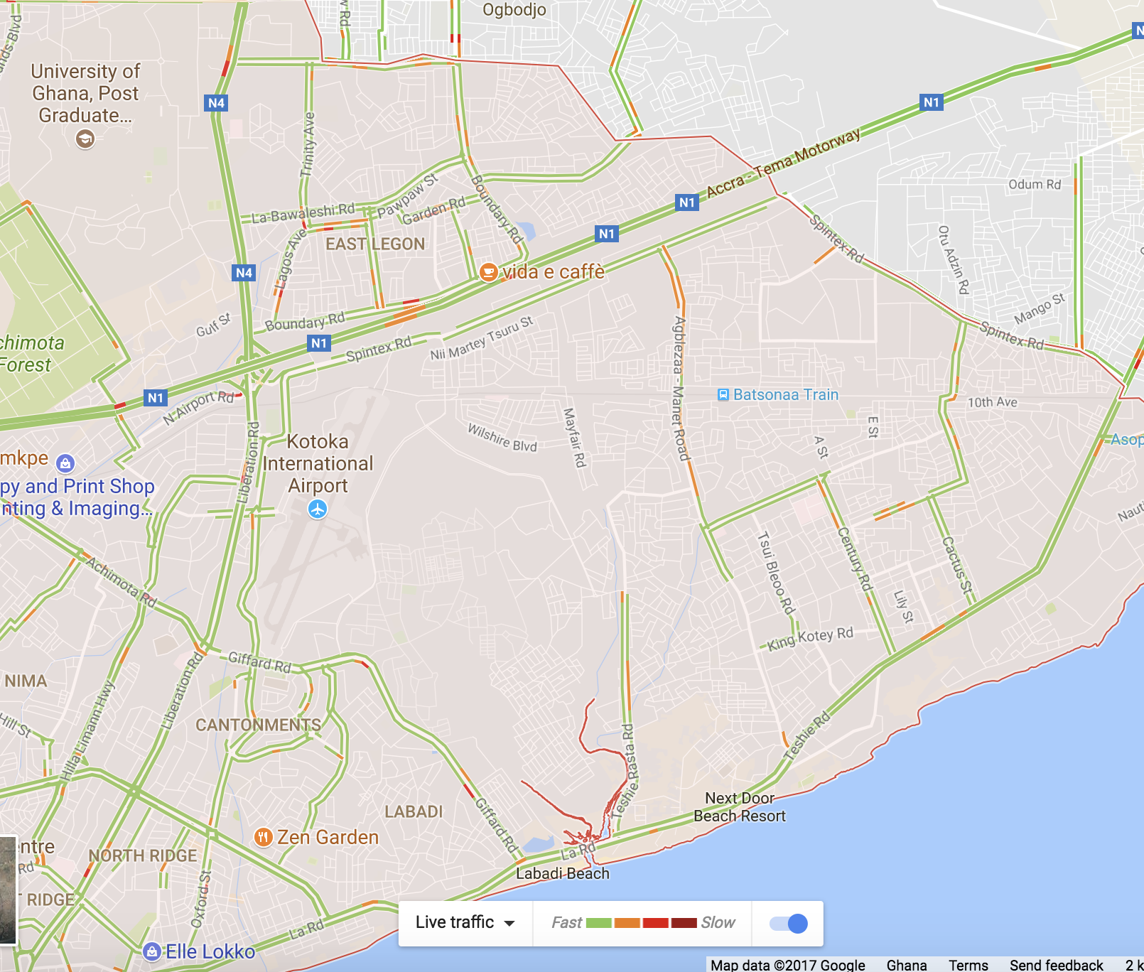 Google Maps Now Has Live Traffic Information In Accra Tech Nova